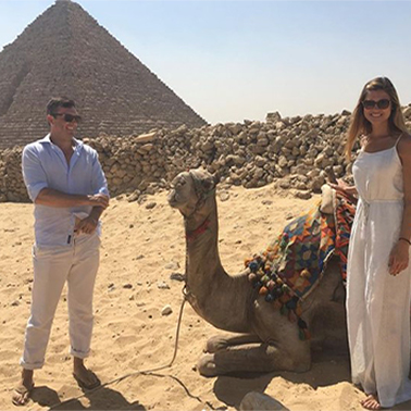 Dr. Hamwi and his wife in egypt